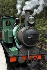 Tourist steam train in Tasmania